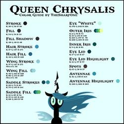 Queen Chrysalis Color Guide