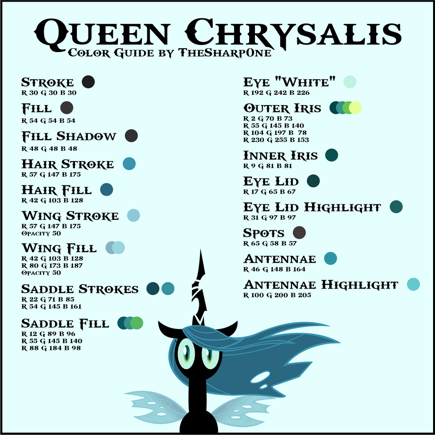 English In Italian: Queen Chrysalis Color Guide By TheSharp0ne On DeviantArt