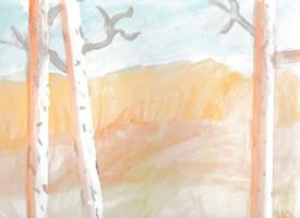 Birch Trees by Mounteen