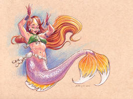 Mermaid Belly Dancer by JesseCoyArt