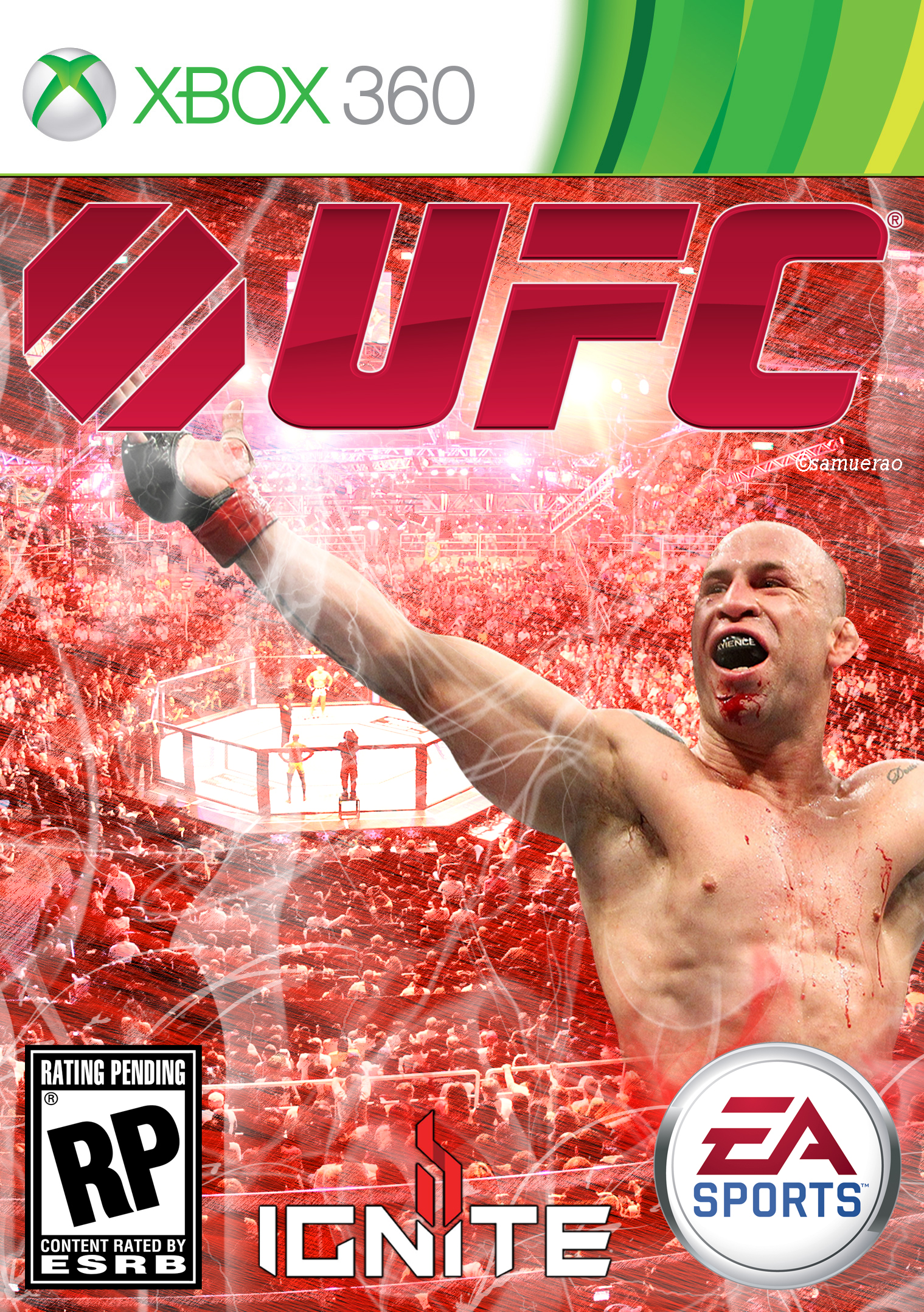 Ea Fuse Xbox 360 : Ea sports ufc cover xbox by samuerao on