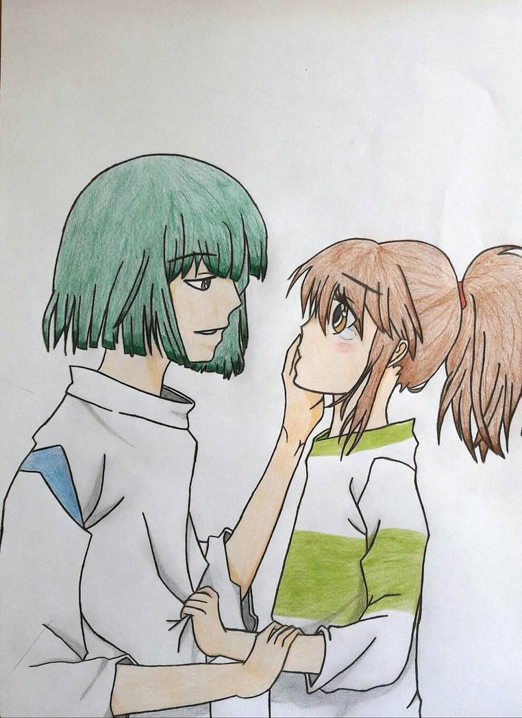 haku chihiro spirited away by isabelbr on deviantart