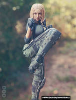Sexy Elite Female Soldier Ready For Combat - Eva by 3DHotGirls
