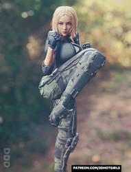 Sexy Elite Female Soldier Ready For Combat - Eva