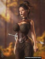 Big Goth Tiddies Kat Starts A MMORPG by 3DHotGirls