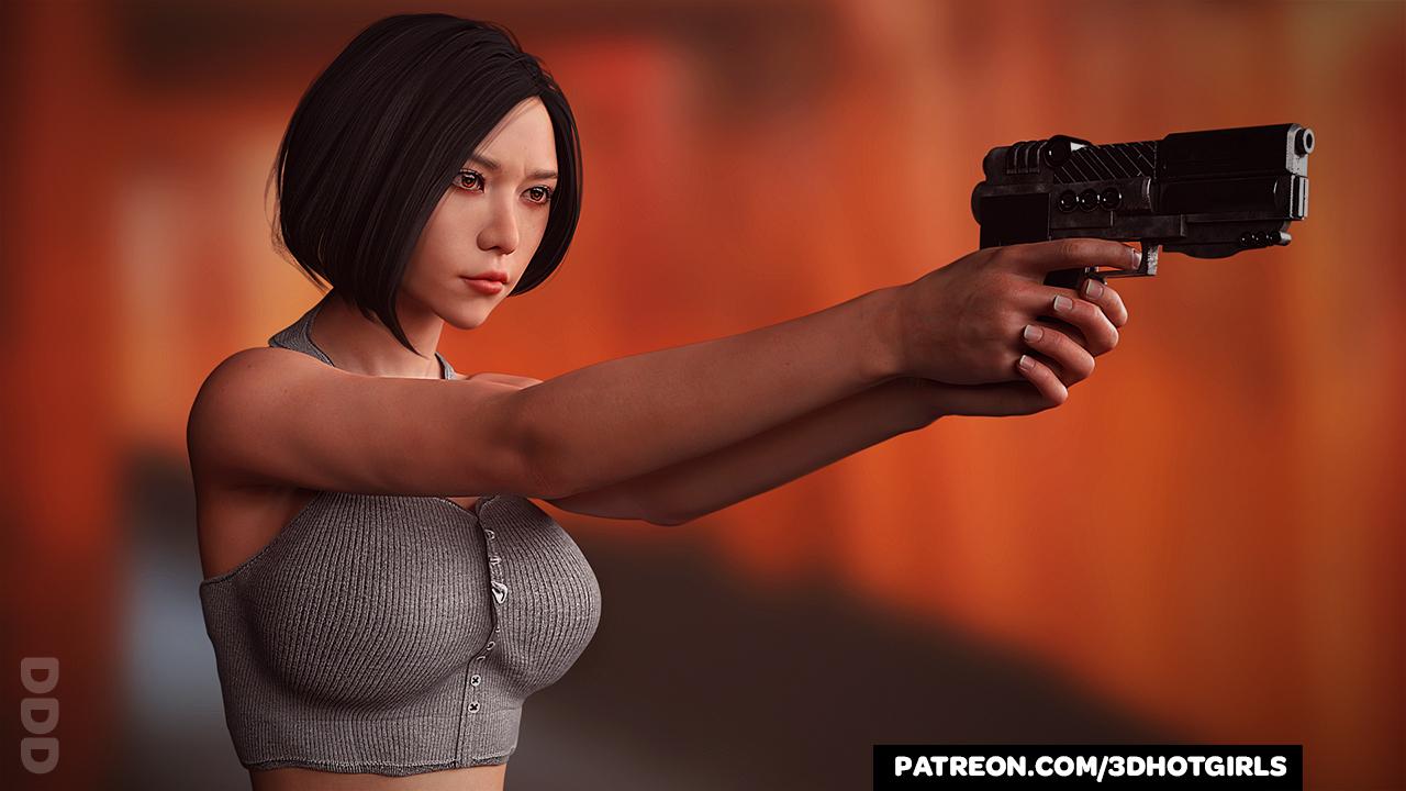 Ada Wong Takes Aim - Resident Evil