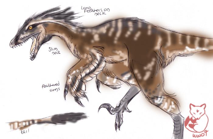 Utahraptor by Kitsune--Rin