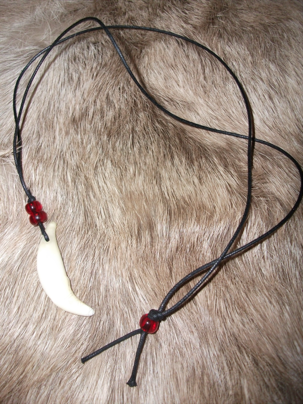 CRAFT: Coyote tooth necklace by neon-possum