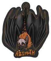 Hanging badge: Azimuth by neon-possum