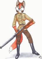 War Vixen by neon-possum