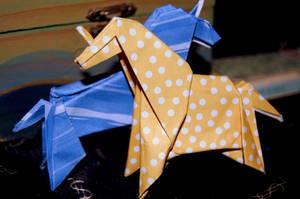 Origami Unicorns. by stuk-in-reality