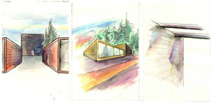 Architectural Watercolour Sketches