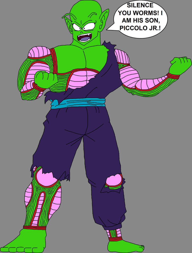 Barefoot Battle Damaged Teen Piccolo Jr. by DragonBallFan2012