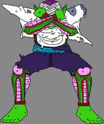 Barefoot Battle Damaged Piccolo Jr. 3