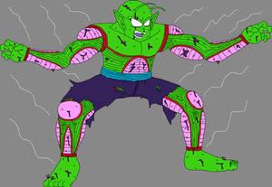Barefoot Shirtless Battle Damaged Piccolo Jr.