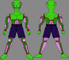 Piccolo Jr. in swimming trunks model sheet