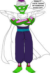 Barefoot Frustrated Piccolo Jr.