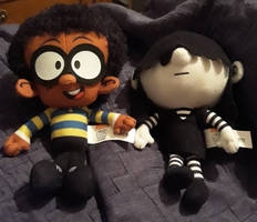 Clyde McBride and Lucy Loud plushies