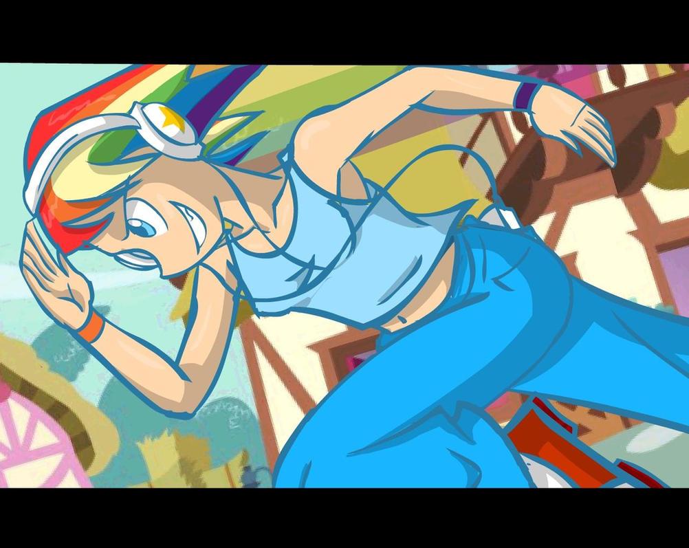 MLP Rainbow Dash Human Version by Kreoss
