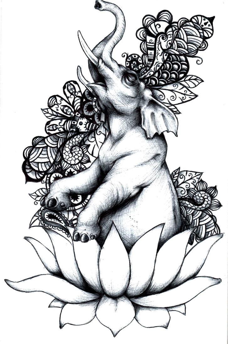 elephant buddha tattoo drawing sketch coloring page. Black Bedroom Furniture Sets. Home Design Ideas