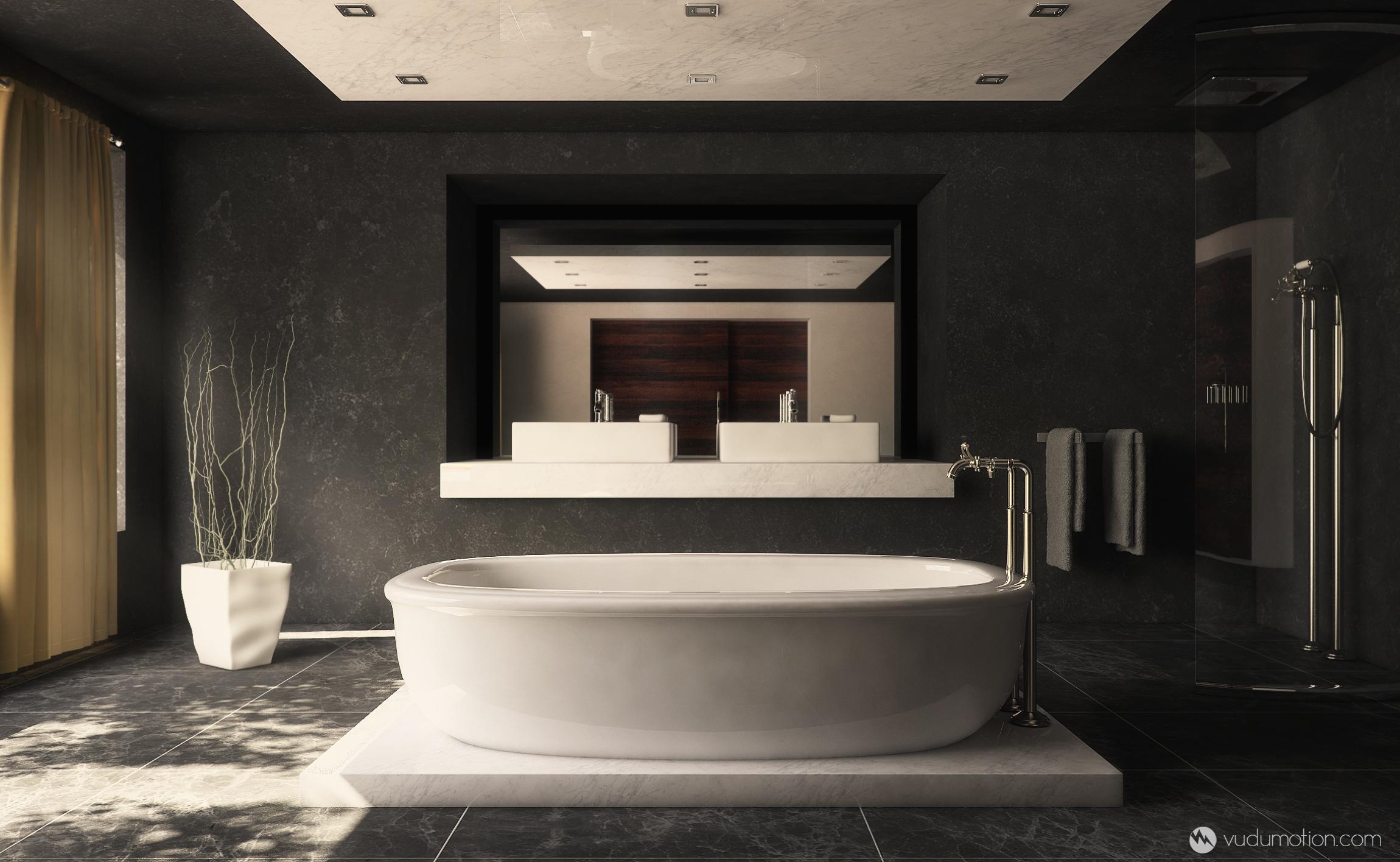 Contemporary Bathroom By Vudumotion On Deviantart