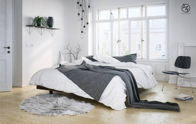 Scandinavian Bedroom by vudumotion