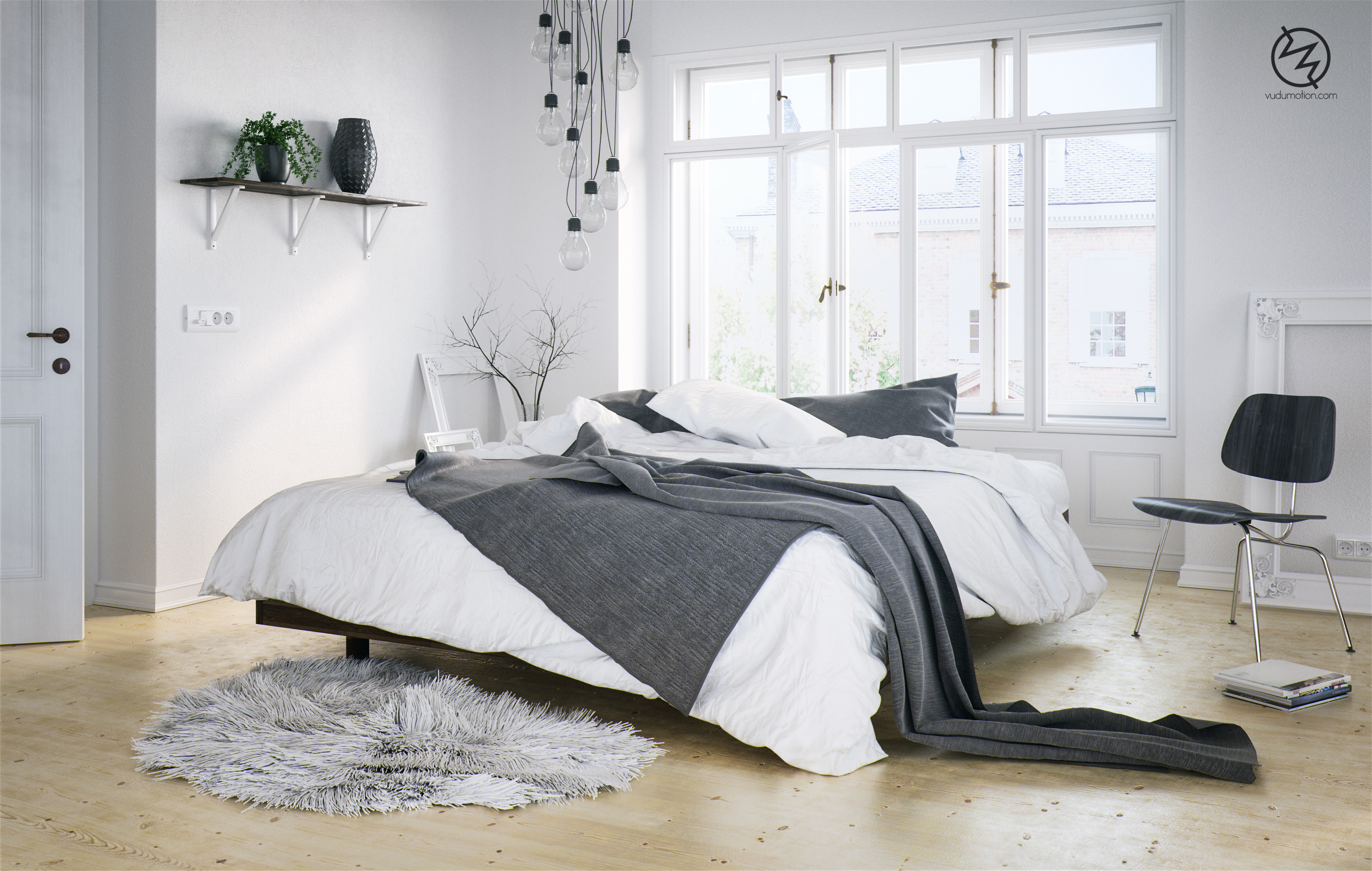 scandinavian bedroom by vudumotion on deviantart. Black Bedroom Furniture Sets. Home Design Ideas