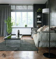 Black Living Room by vudumotion