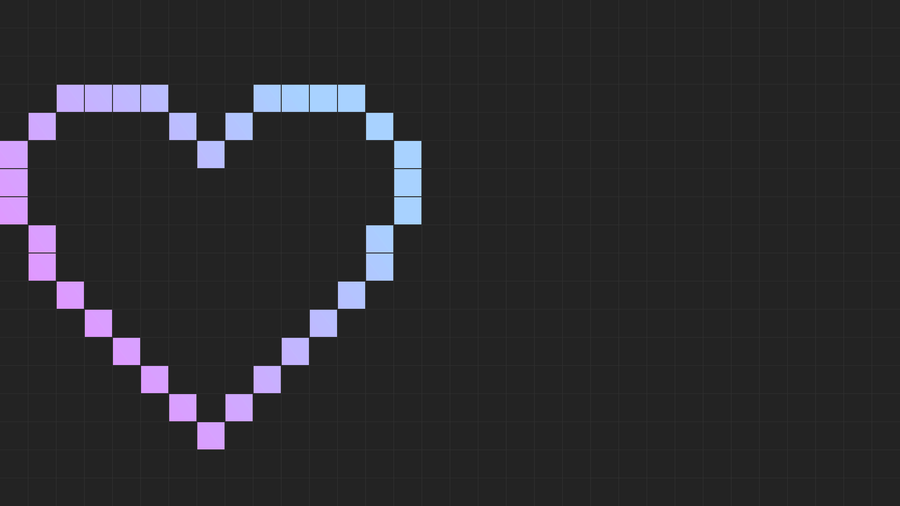 Pixel Grid Heart 1080p by thoere