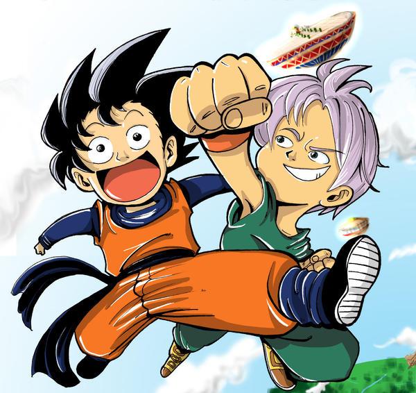 Dragon Ball Z Super Saiyan Goten. Super Saiyan Future Trunks.