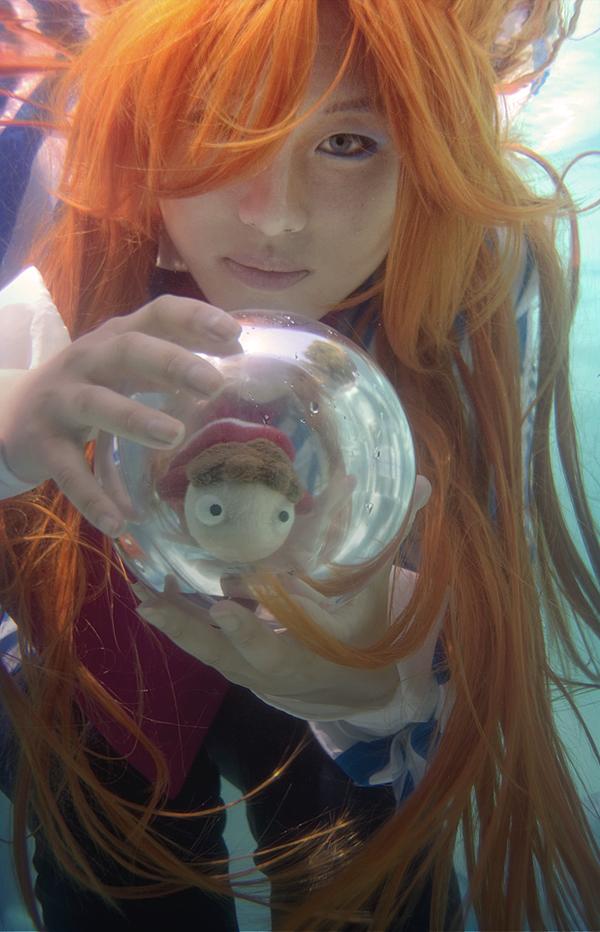 Ponyo Underwater - Fujimoto by alita-b-angel