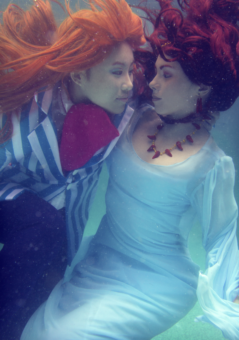 Ponyo Underwater - The Wizard and the Sea Goddess by alita-b-angel