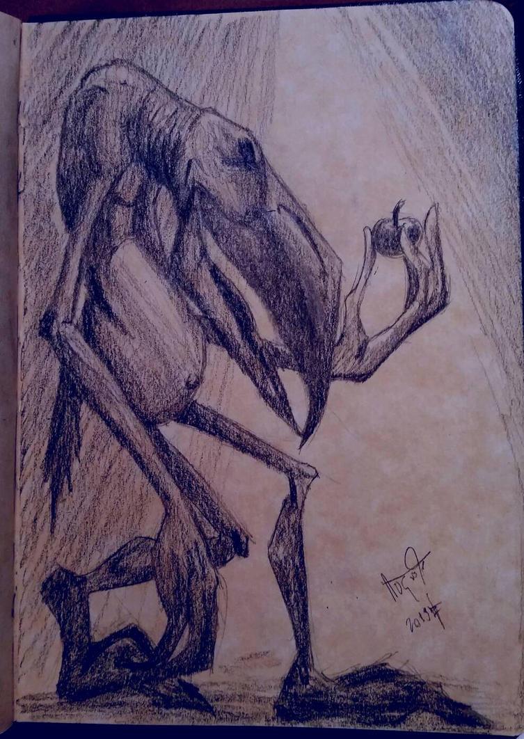 Monster Sketch  by ArtLuisLara