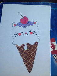 Kawaii kitty ice cream