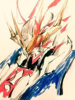 Gundam Barbatos Lupus Rex by sakamotokazuya