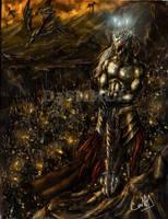 Morgoth y su Hueste by D3SMMUN