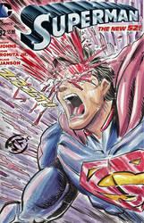 Superman - Sketch Cover in Watercolors