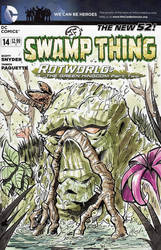 Swamp Thing - Sketch Cover in Watercolors