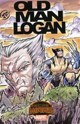 Old Man Logan - Sketch Cover in Watercolors