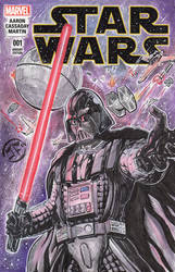 Star Wars Darth Vader - Sketch Cover in Watercolor