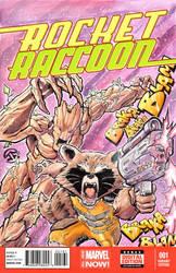 Rocket Raccoon and Groot!