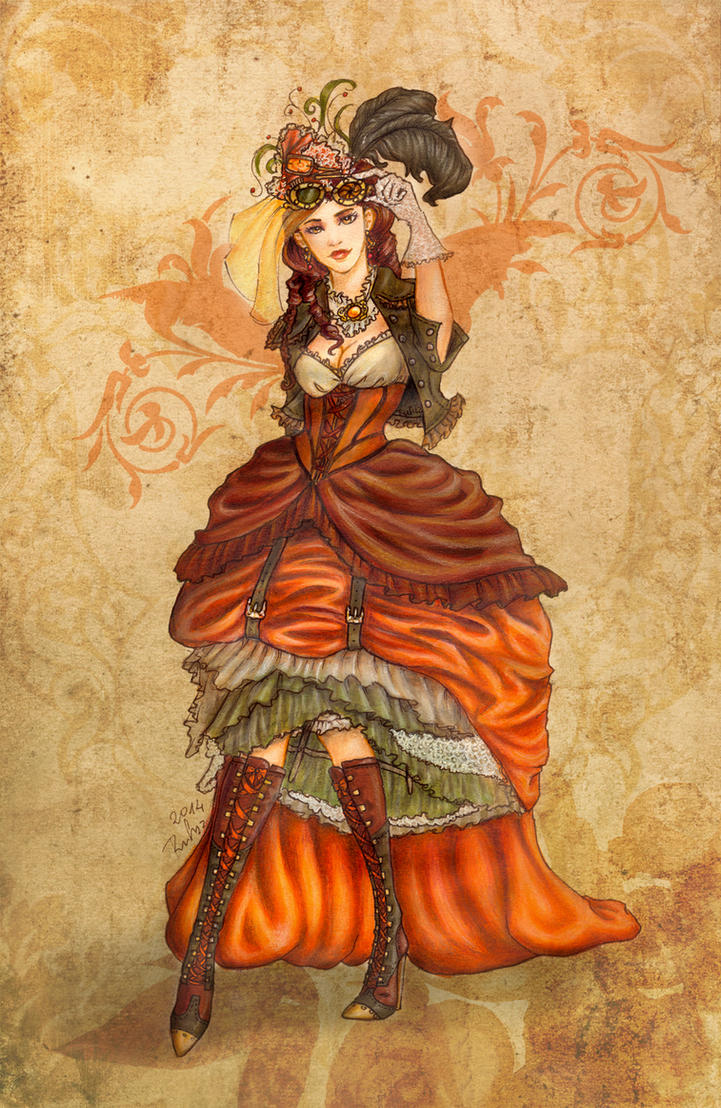 SteamPumpkin Lady by Rufciu
