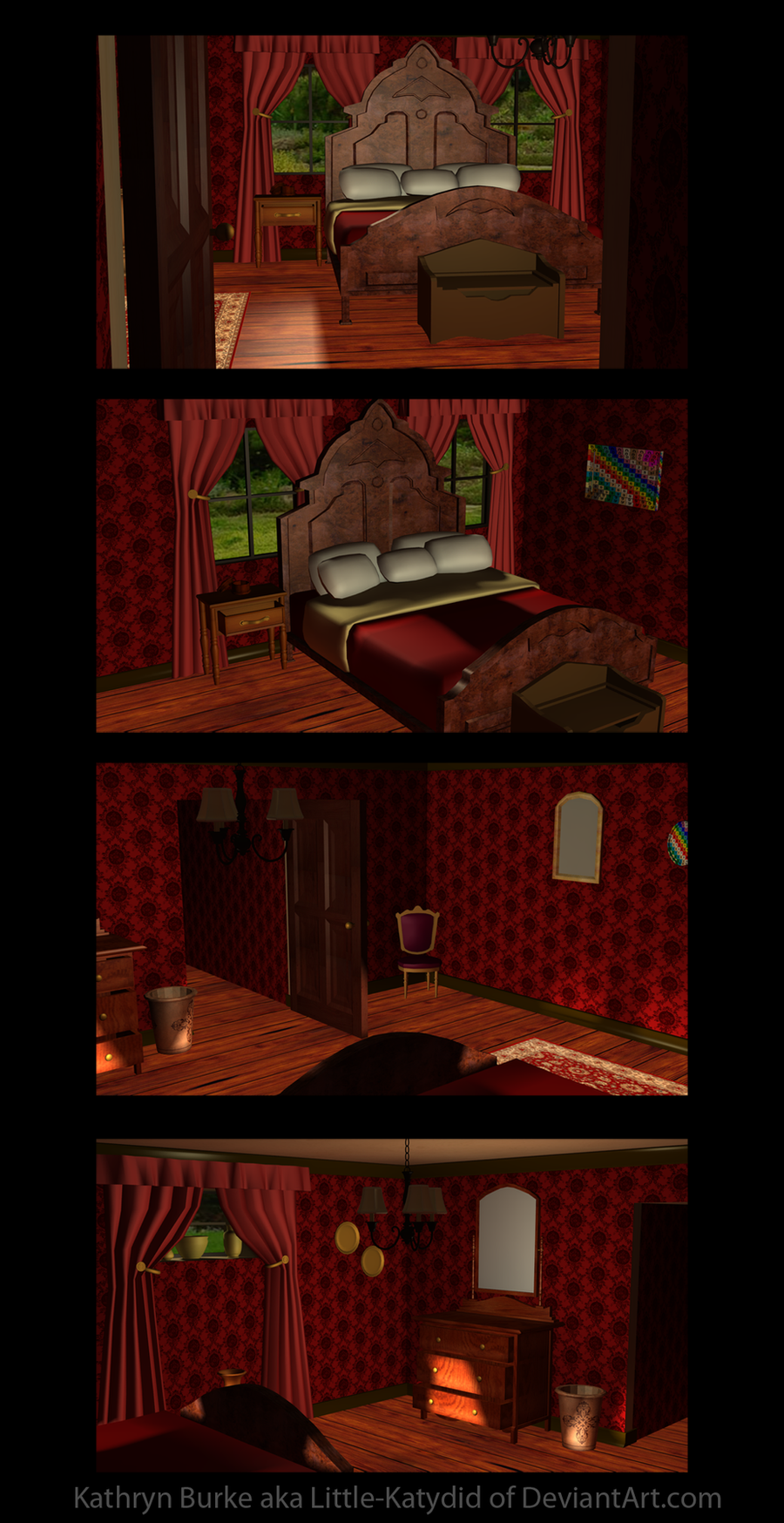 Red And Black Victorian Bedroom Red Victorian Bedroom By