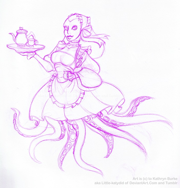 30 Day Monster Girl Challenge: Octo Maid! by Little-Katydid
