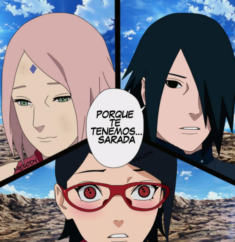 Sakura Sasuke Y Sarada Uchiha Naruto By Mangabestmelody
