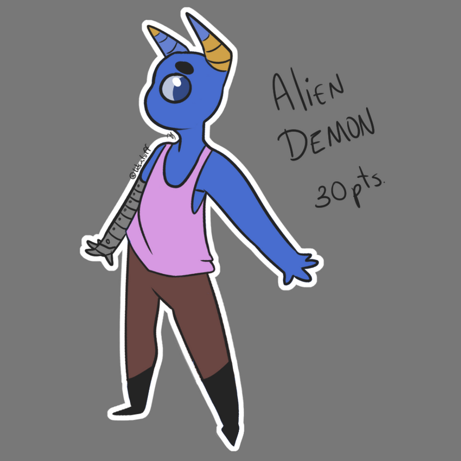 Alien Demon (Adopt) CLOSE by Lids-Stuff