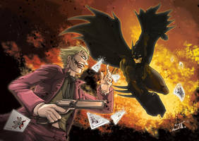 batman vs joker by tuljin