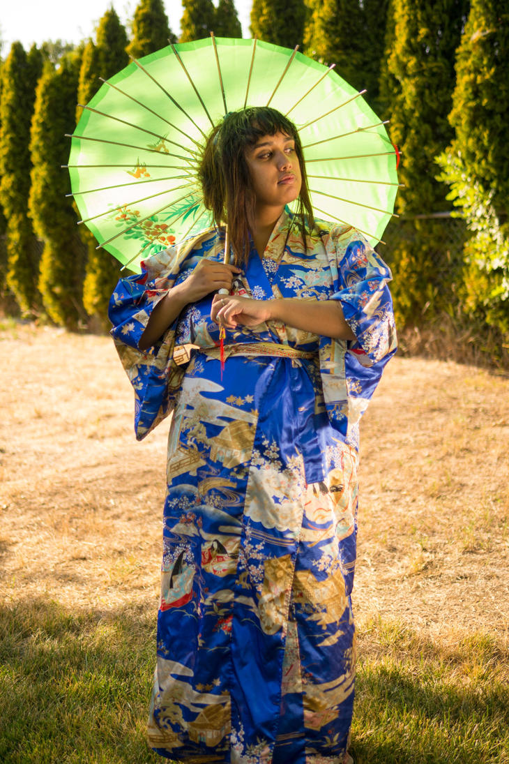 Blue Kimono 13 by MajesticStock