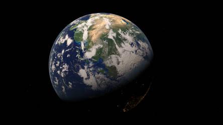 Earth Render (WIP) by John-AM