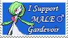I Support Male Gardevoir Stamp by Krazys-Stamps